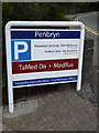 SN5981 : Penbryn sign by Adrian Cable