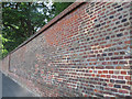 TQ3977 : Patchwork brick wall, Greenwich Park by Stephen Craven