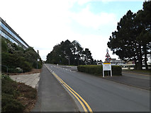 SN5981 : University entrance road at Aberystwyth University by Adrian Cable