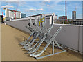 TQ3884 : Cycle rack at the Stratford entrance to the Olympic Park by Stephen Craven
