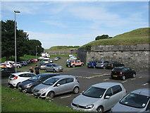 NT9953 : Car park at the Cumberland Bastion by M J Richardson