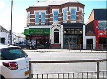 J3472 : Businesses at the corner of Lower Ormeau Road and Agincourt Avenue by Eric Jones