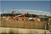 TQ3784 : View of the Olympic Stadium from the River Lea Navigation #9 by Robert Lamb