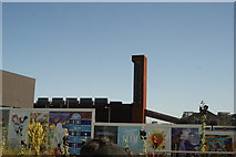 TQ3784 : View of the London Olympics Energy Centre from the River Lea Navigation #6 by Robert Lamb