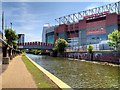 SJ8096 : Bridgewater Canal and Old Trafford North Stand by David Dixon