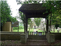 ST9383 : Holy Rood, Rodbourne: lych gate by Basher Eyre