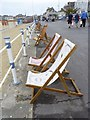 SY6879 : Deck chairs on The Esplanade, Weymouth by Becky Williamson