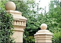 J3371 : Gate pillars, Malone Road, Belfast (July 2015) by Albert Bridge