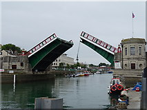 SY6778 : Weymouth Town Bridge by Matthew Chadwick