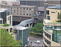 NT2574 : Footbridge to St James shopping centre, Leith Street by Jim Barton