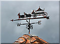 NT5070 : A weather vane at Bolton, East Lothian by Walter Baxter
