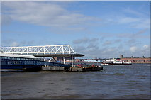 SJ3290 : Ferry approaching Seacombe ferry by Mike Pennington