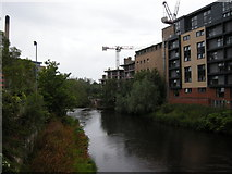 NS5666 : Construction work beside the Kelvin by Richard Sutcliffe