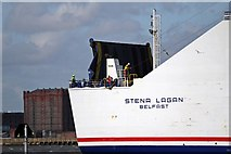 SJ3290 : Stern, Stena Lagan, River Mersey by El Pollock