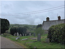 SS6644 : Christ Church, Parracombe: churchyard (i) by Basher Eyre