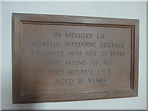 SS6644 : Christ Church, Parracombe: memorial (B) by Basher Eyre