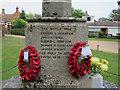 TL3949 : Barrington war memorial names by Hugh Venables