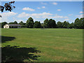 TL3163 : Cricket pitch, Elsworth by Hugh Venables