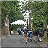 TQ0893 : Merchant Taylors' School: cricket spectators arriving by John Sutton