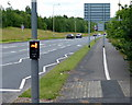 SJ8551 : Cycle lane along the A527 by Mat Fascione