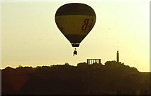 NT2674 : Balloon flight over Calton Hill by Anthony O'Neil