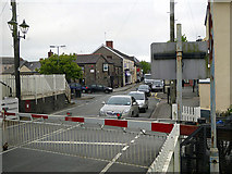 SN1916 : Level crossing by Whitland station by John Lucas