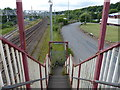 SJ8549 : View south from the footbridge by Mat Fascione