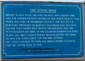 SO3700 : Town Hall blue plaque, Usk by Jaggery