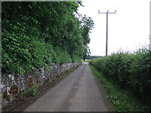 NT1474 : Minor road beside Carlowrie by JThomas