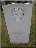 SU8363 : St John the Baptist, Crowthorne: CWGC stone (a) by Basher Eyre