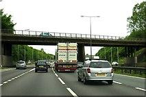 SJ9603 : Bursnips Road crosses the M6 by Steve Daniels