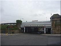 NZ4920 : Middlesbrough Townscape : Albert Bridge, Middlesbrough Station by Richard West