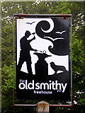 SS2317 : The Old Smithy Inn sign  at Darracott, Devon by Roger  Kidd