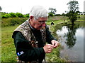 H6269 : Untangling the line, Termon Fishery by Kenneth  Allen