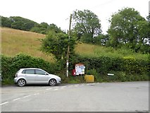 SX5548 : Parish notice board for Newton and Noss at Bridgend by David Smith