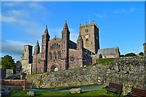 SM7525 : St Davids Cathedral by Philip Pankhurst