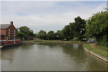 SP7155 : Gayton Junction from Grand Union Canal Northampton Branch by Jo Turner