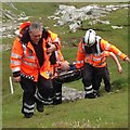 C3959 : Cliff edge rescue, Malin Head by Kenneth  Allen