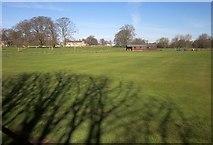 SE3953 : Cricket ground, Ribston South Park by Derek Harper
