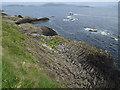 NM3235 : East coast of Staffa by Hugh Venables