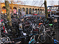 TL4657 : Bike racks outside Cambridge Station by Hugh Venables