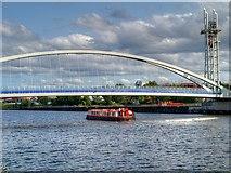 SJ8097 : Cruising Below the Lowry Bridge by David Dixon