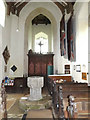 TM2472 : St.Mary's Church Font & Bell Tower by Adrian Cable