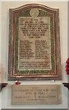 TM2384 : War memorial inside St Margaret's church, Starston by Helen Steed