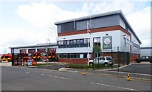SO8555 : The new Worcester Fire Station (1), McKenzie Way, Great Western Business Park, Worcester by P L Chadwick