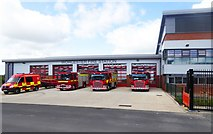 SO8555 : The new Worcester Fire Station (2), McKenzie Way, Great Western Business Park, Worcester by P L Chadwick