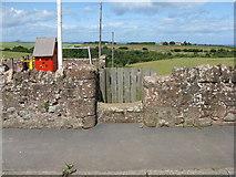 NT6775 : Gate to St John's Well by M J Richardson