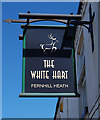 SO8658 : The White Hart (3) - sign, 161 Droitwich Road, Fernhill Heath, Worcs by P L Chadwick