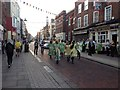 TQ7468 : Morris Dancers, High Street, Rochester by Chris Whippet