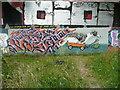 SE0922 : A new exhibit at the Salterhebble graffiti art gallery - 4 by Humphrey Bolton